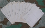 Original German WWII Set of 10 Feldpost Letters
