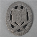 Original German WWII General Assault Badge Unmarked By Schauert & Hohfeld