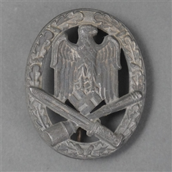 Original German WWII General Assault Badge Unmarked By Gustav Brehmer
