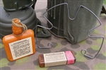 Original German WWII Decontamination Gas Attack Container Set With Retain Spring
