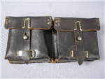 Original German WWII Unissued Black Leather G/K43 Magazine Pouch