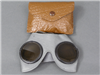 Original German WWII Un-Issued Dust Goggles (Motorradbrille) With Pouch