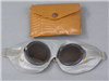 Original German WWII Dust Goggles (Motorradbrille) With Pouch
