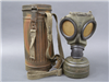 Original German WWII M38 Gasmask Container With Mask & Straps Set