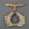 Original German WWII Heer Visor Cap Eagle & Wreath Set