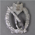 Original German WWII Silver Infantry Assault Badge By Metall und Kunstoff