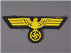 Original German WWII EM/NCO Naval Coastal Artillery Breast Eagle