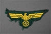 Original German WWII Kriegsmarine Coastal Artillery EM/NCO Removed Cap Eagle