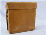 Original German WWII Pre-War 1938 Dated Luftschutz Leather Medical Pouch (Verbandstasche)