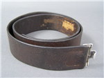 Original Luftwaffe Brown Leather Combat Belt Dated 1938