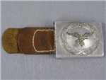 Luftwaffe Aluminum Buckle With Leather Tab