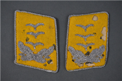 Original German WWII Luftwaffe Hauptmann (Captain) Fallschirmjäger/Flieger Collar Tabs