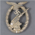 Original German WWII Luftwaffe Flak (Anti-Aircraft) Badge