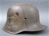 Original German WWI M17 Camouflaged Helmet Size 66