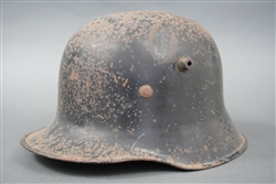 Original Third Reich Allgemeine SS No Decal Model 1918 Helmet