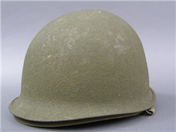 Original US WWII M1 Front Seam Helmet With Original Liner