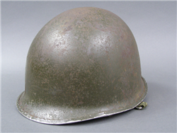 Original US WWII M1 Front Seam Swivel Bail Helmet Shield