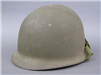 Original US WWII M1 Rear Seam Swivel Bail Helmet