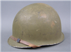 Original US WWII Korean M1 Front Seam Swivel Bail Helmet With Westinghouse Liner