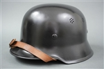 Original/Refurbished German WWII M34 Fire/Police Helmet size 64 Made By Quist