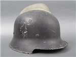 Original German WWII M34 Police/Fireman's Helmet With Comb