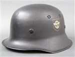 Original German WWII Mint Unissued M34 Fire/Police Helmet Size 58