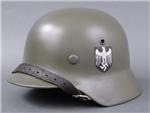 German WWII Refurbished M35 Heer Double Decal Helmet