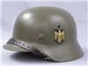 Original German WWII Refurbished M35 Double Decal Kriegsmarine Helmet Size 64 Shell