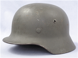 Original German WWII No Decal Reissued M35 Helmet Q62
