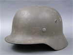 Original German WWII Heer SS Reissued M35 Helmet