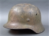 Original German WWII M40 Luftwaffe Normandy Camouflage Ex-Full Chicken Wire Basket Helmet ET62