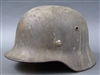 Original German WWII Luftwaffe M35 Tri-Color Normandy Camouflage Helmet Q66