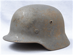 Original German WWII Luftwaffe Single Decal Reissued M35 Helmet Size 66