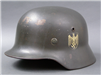 Original German WWII Heer Single Decal M35 Helmet NS64