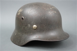 Original German WWII Heer Single Decal M35 Helmet Q64