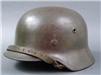 Original German WWII Heer Tri-Colored Camouflaged M40 Helmet