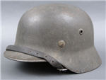 Original German WWII Heer/Waffen SS M40 No Decal Helmet SE64