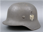 Original German WWII Single Decal M40 Heer (Army) Helmet