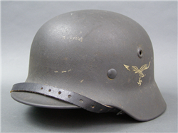 Original German WWII Luftwaffe M40 Single Decal Helmet