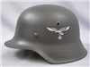 Original German WWII Refurbished Luftwaffe M42 Helmet Size 62 Shell
