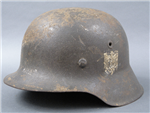 Original German WWII Heer M42 Single Decal Helmet EF64