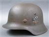 Original German WWII Heer M42 Single Decal Helmet