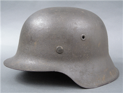 Original German WWII Heer/Waffen SS M42 No Decal Helmet Size 66