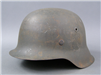 Original German WWII Heer/Waffen SS No Decal M42 ckl66 Helmet