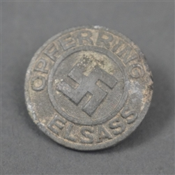 Original Third Reich Opferring Elsass Membership Badge