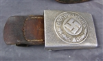Original German WWII Aluminum Police Belt Buckle