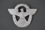 Original German WWII Police Officer's Aluminum Cap Badge Marked F.K.S.