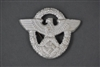 German WWII Police Officer's Aluminum Cap Badge Unmarked