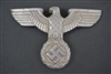 Original German WWII Aluminum Postal Cap Eagle