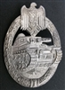 Original German WWII Unissued Silver Panzer Assault Badge (Unmarked Frank Und Reif)